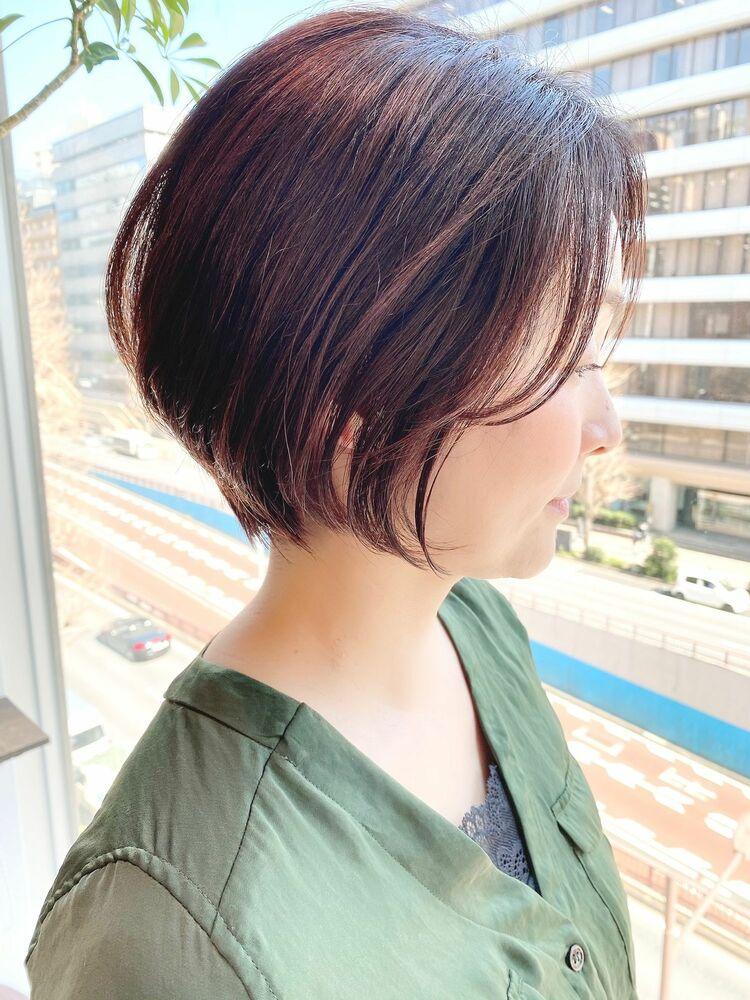 銀座/VIE/つばさ☆カットが上手い◎大人女性のショートボブ