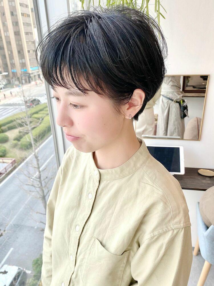 銀座/VIE/つばさ☆カットが上手い◎黒髪でオシャレなスッキリショート