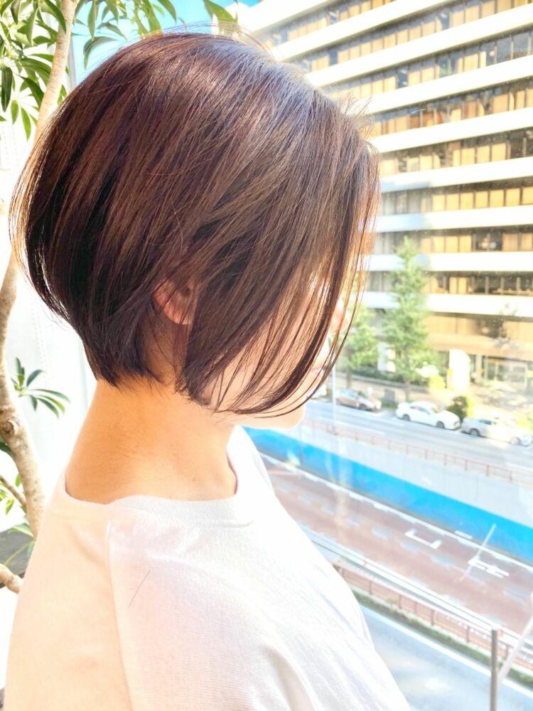 表参道・青山/VIE/つばさ☆カットが上手い◎大人女性の前下がりショートボブ
