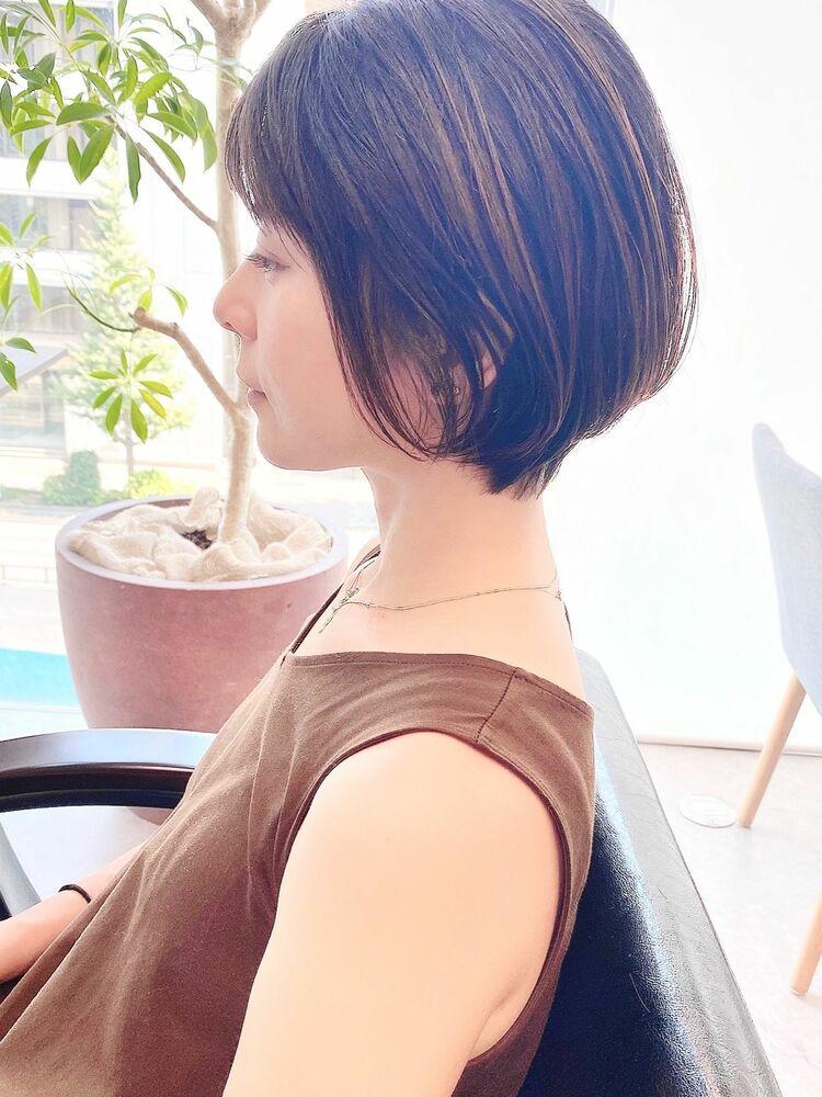 銀座/VIE/つばさ☆カットが上手い◎シルエットがキレイな大人女性ショート