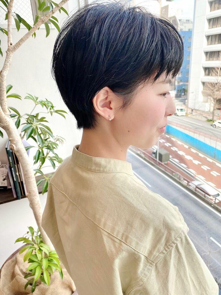表参道・青山/VIE/つばさ☆カットが上手い◎スッキリ黒髪ショート