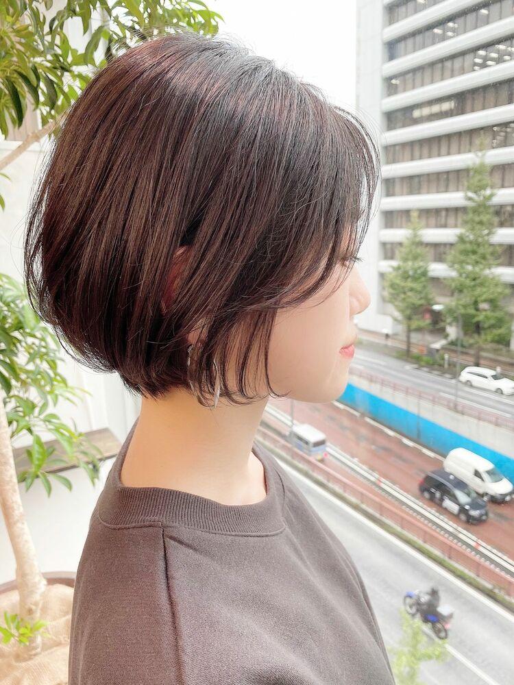 銀座/VIE/つばさ☆カットが上手い◎女性らしいふんわり前下がりショートボブ