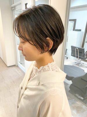 銀座/VIE/つばさ☆カットが上手い◎黒髪でもふんわり軽いハンサムショート