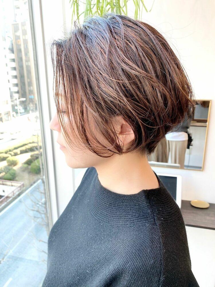 表参道・青山/VIE/つばさ☆カットが上手い◎動きのある前下がりショートボブ