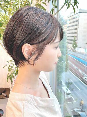 銀座/VIE/つばさ☆カットが上手い◎ナチュラルに可愛い耳掛けショート