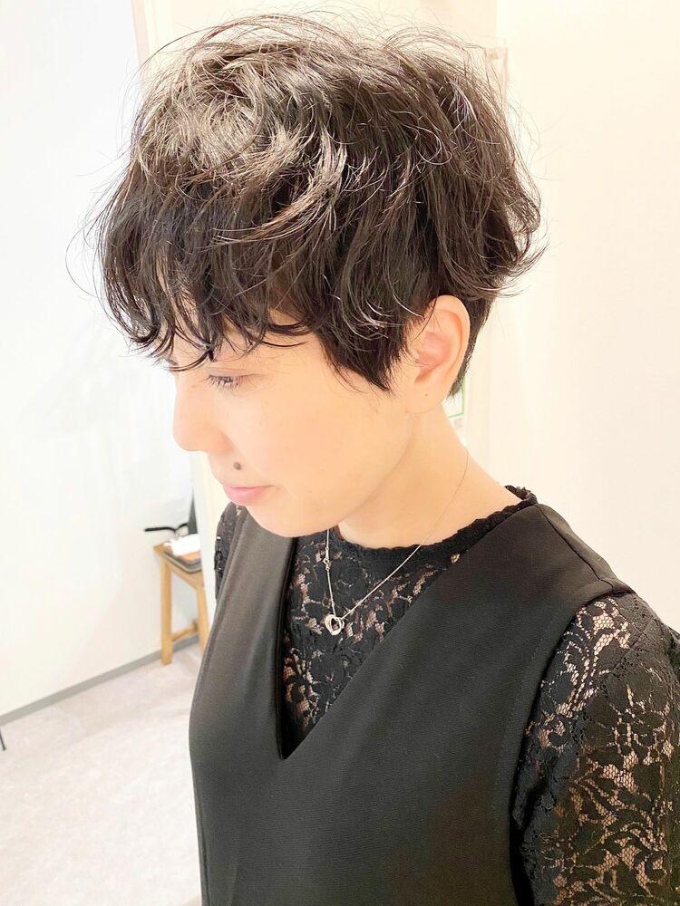 表参道・青山/VIE/つばさ☆カットが上手い◎クセを活かしたショートヘア