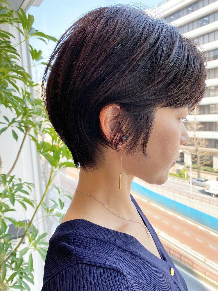 銀座/VIE/つばさ☆カットが上手い◎大人女性の後頭部ふんわりショート
