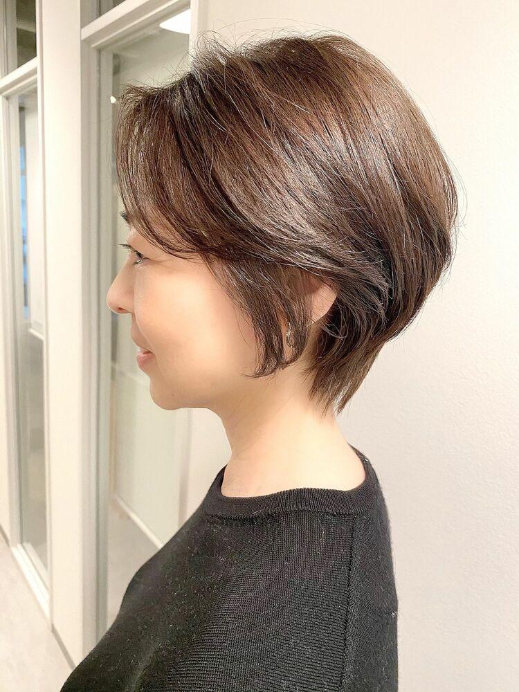 表参道・青山/VIE/つばさ☆カットが上手い◎後頭部ふんわり大人女性ショート