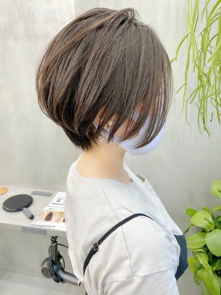 表参道・青山/VIE/つばさ☆カットが上手い◎大人可愛い前下がりショートボブ