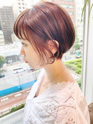 銀座/VIE/つばさ☆カットが上手い◎ふんわり可愛い丸みのショートボブ