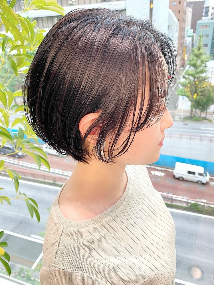 銀座/VIE/つばさ☆カットが上手い◎暗髪でもふんわり軽いショートボブ