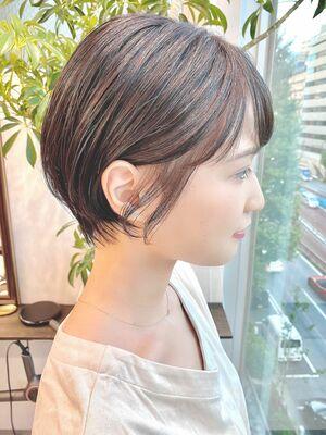 銀座/VIE/つばさ☆カットが上手い◎大人可愛い耳かけショートボブ