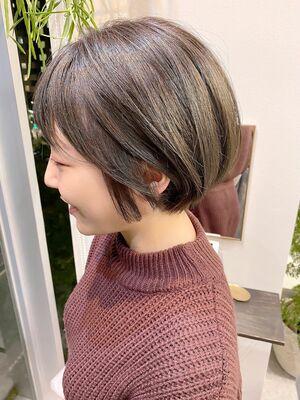 銀座/VIE/つばさ☆カットが上手い◎女性らしいふんわり丸みショート