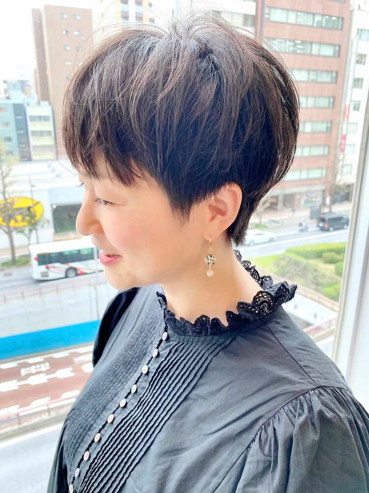 表参道・青山/VIE/つばさ☆カットが上手い◎大人女性のふんわりショートヘア
