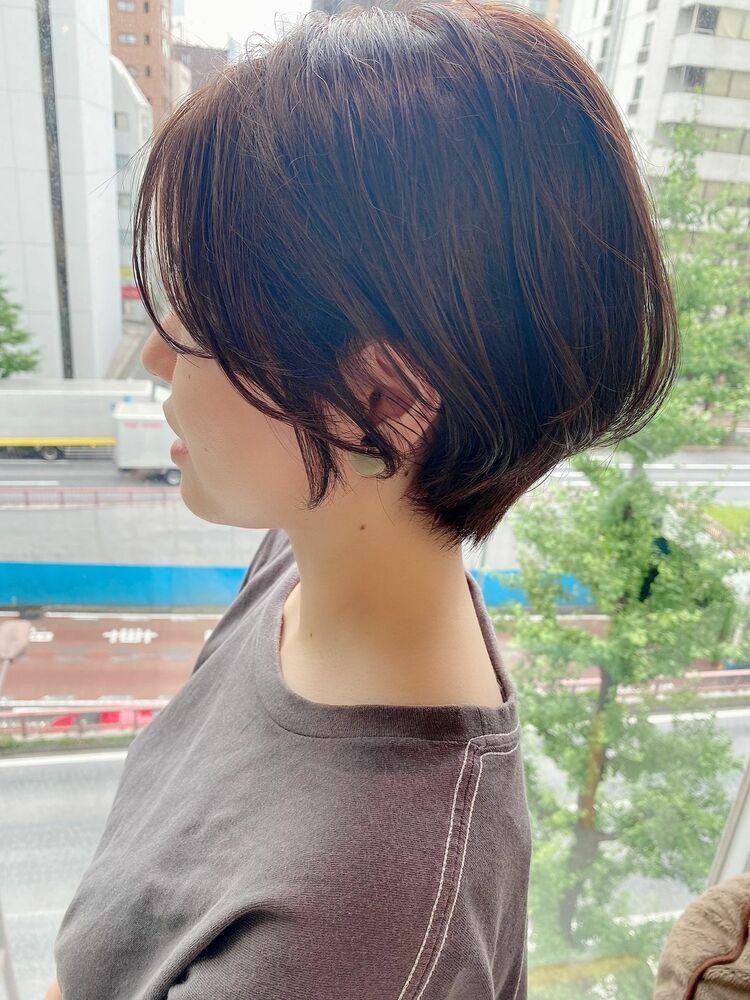 表参道・青山/VIE/つばさ☆カットが上手い◎ふんわり大人可愛いハンサムショート