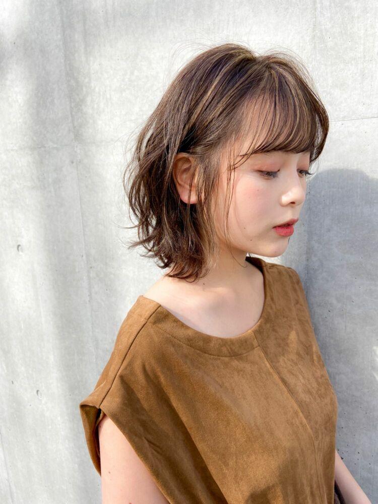 『dydi大洞拓也』大人可愛いハイライトカラー&ひし形くびれ小顔ボブ♬