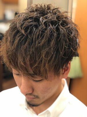 スパイラルパーマ×フェザーマッシュ/ヒロ銀座/浜松町/理容室