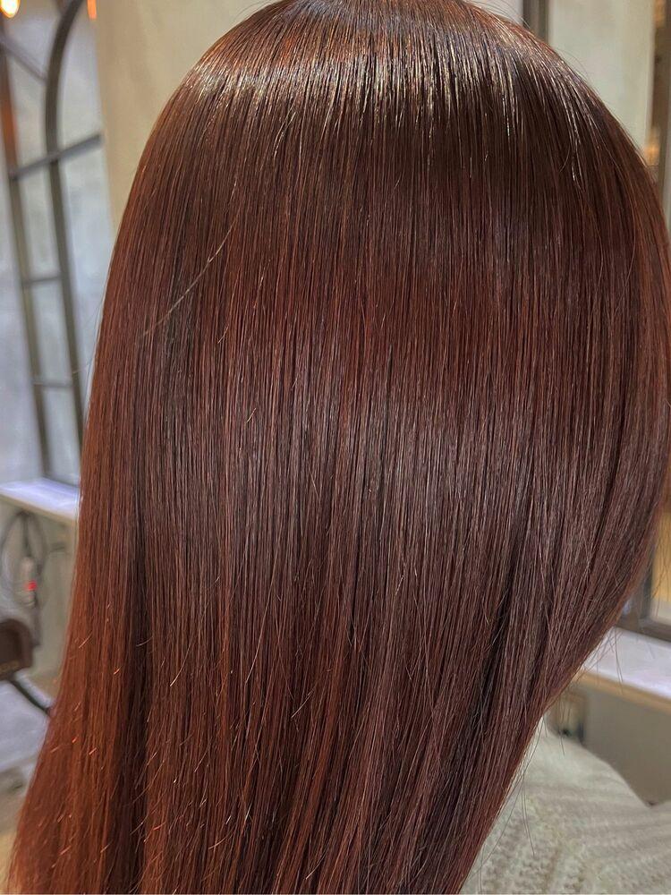 艶髪×レッドブラウン