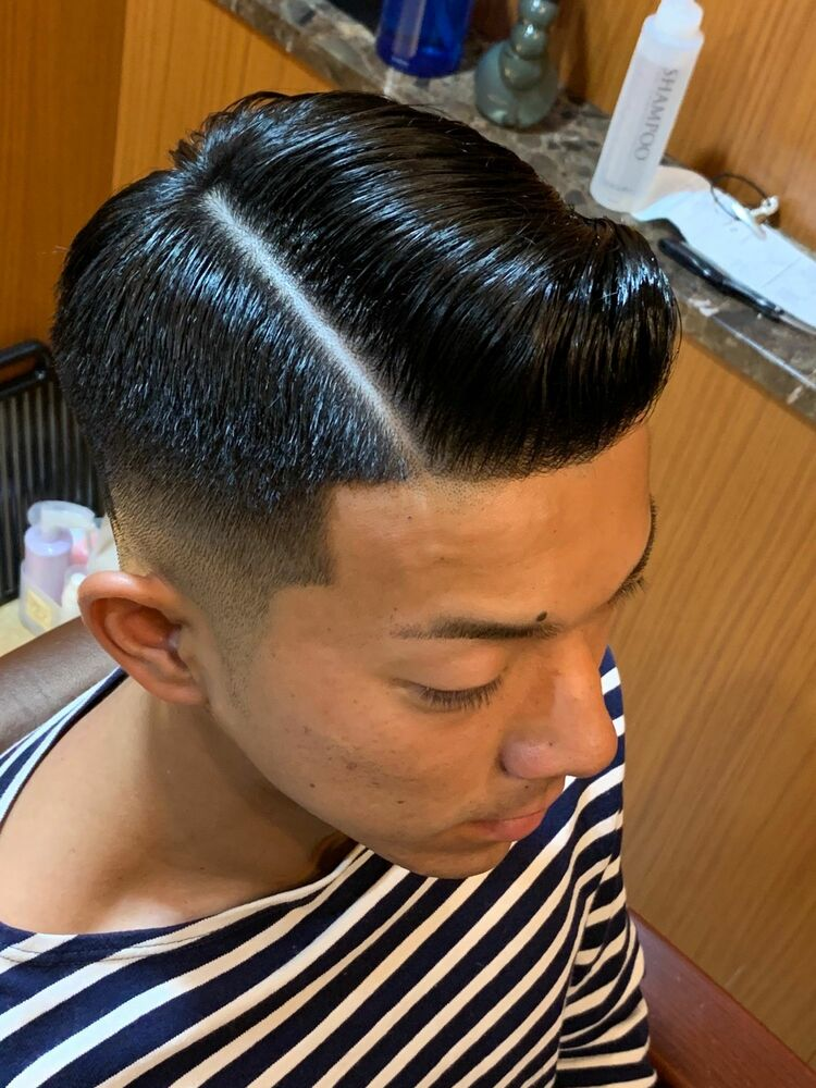 the traditional barber style !