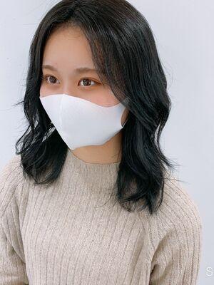韓国風ブルーブラック