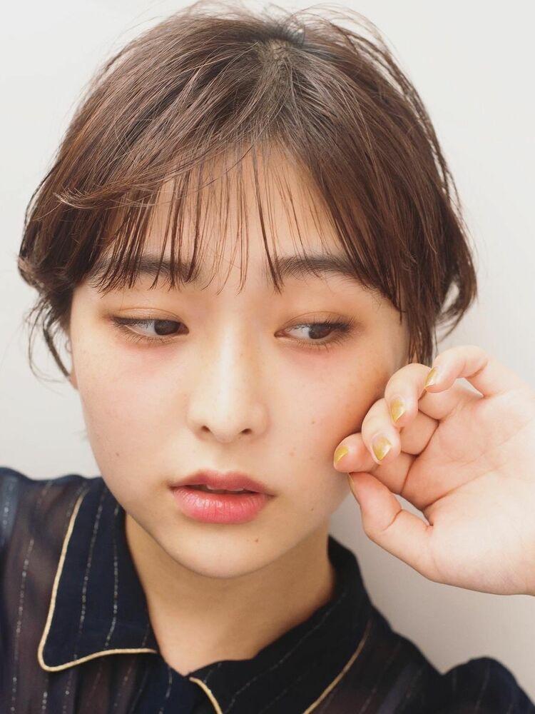韓国可愛い小顔ショート