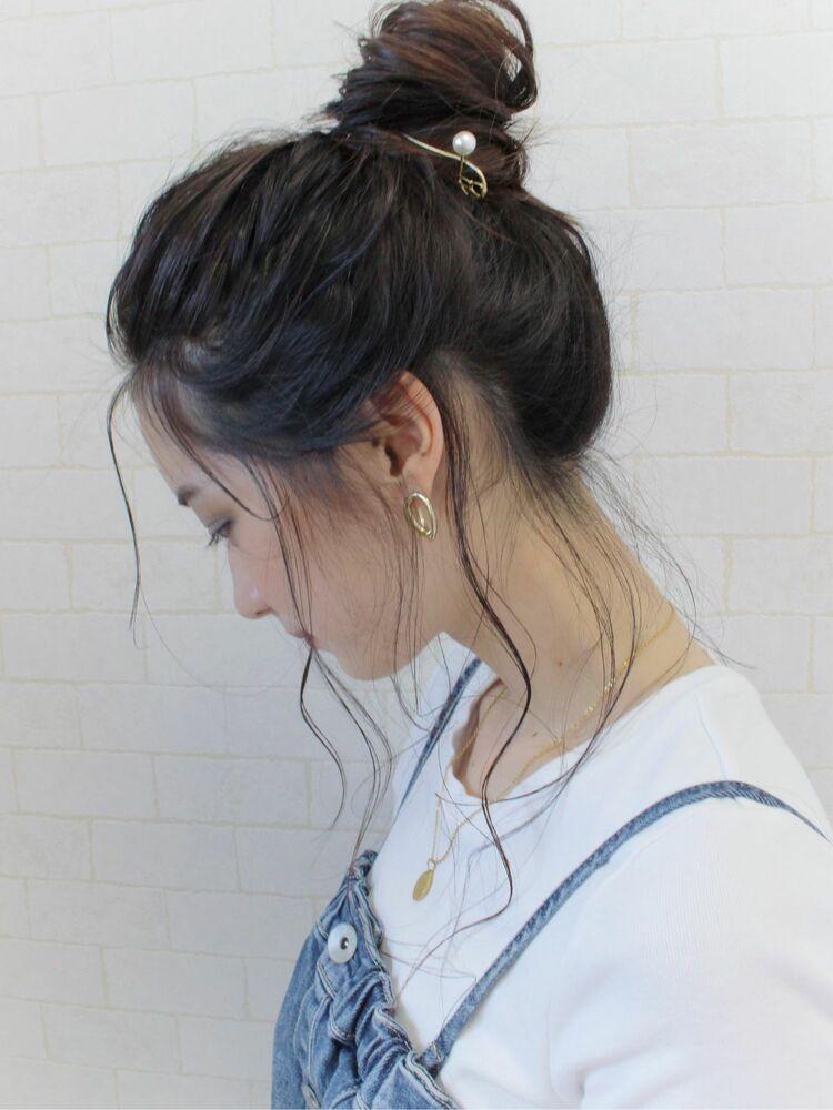 簡単アレンジ♪お団子ヘア☆