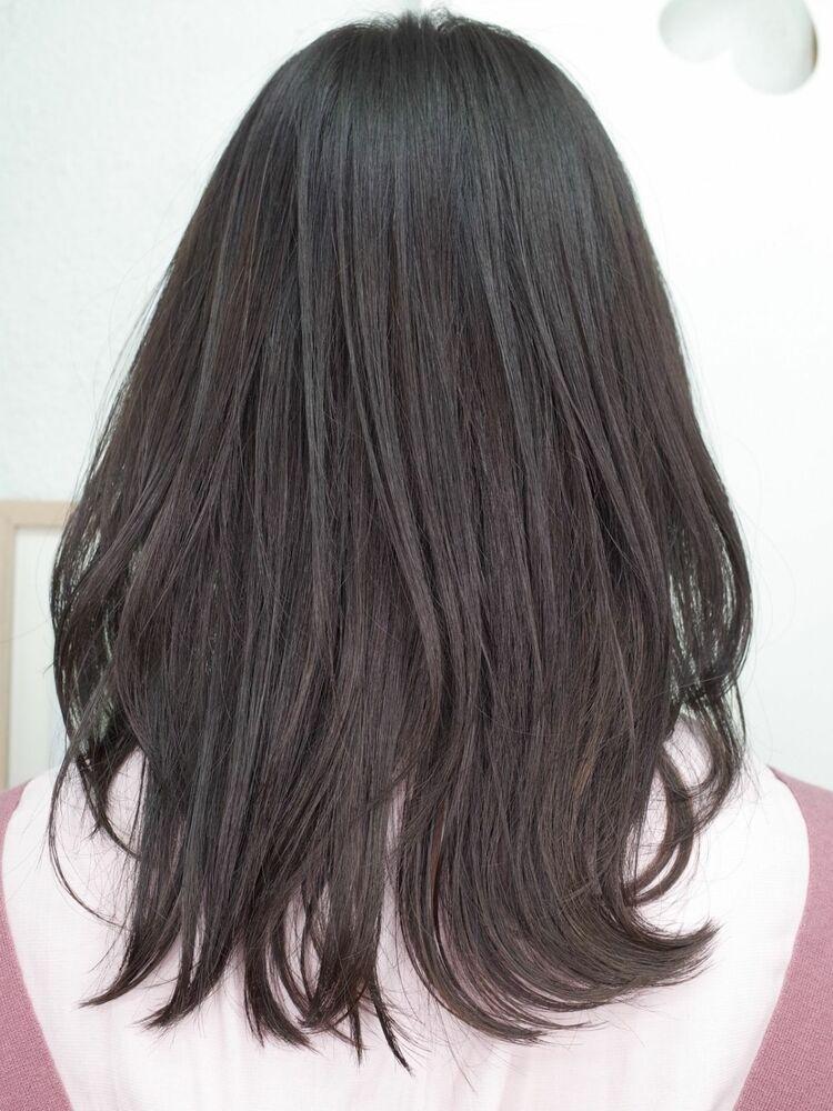 黒髪大人かわいい◎シースルーくびれミディ20代30代40代