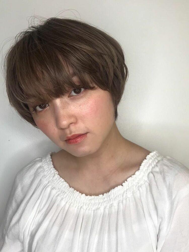大人かわいい☆外国人カラー小顔マッシュ