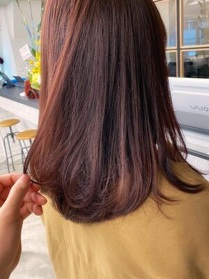 アルミナカラーで大人可愛い艶髪カラーに♪
