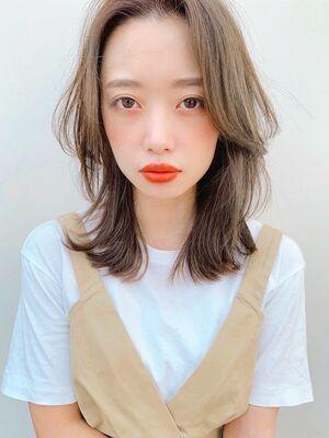 Lila by afloat吉祥寺2分/小笠原/ひし形くびれミディ/ハイライトミルクティーグレージュ