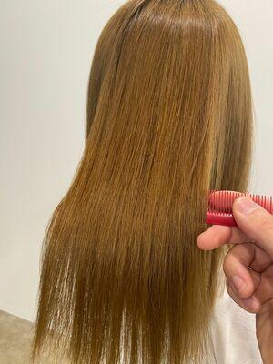 髪質改善酸性ストレート(4枚目beforeです)