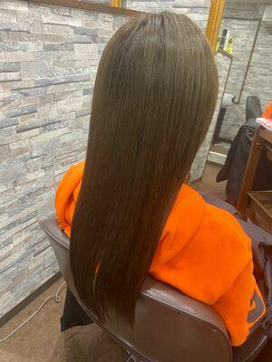 髪質改善イルミナカラー+インナーグレージュ