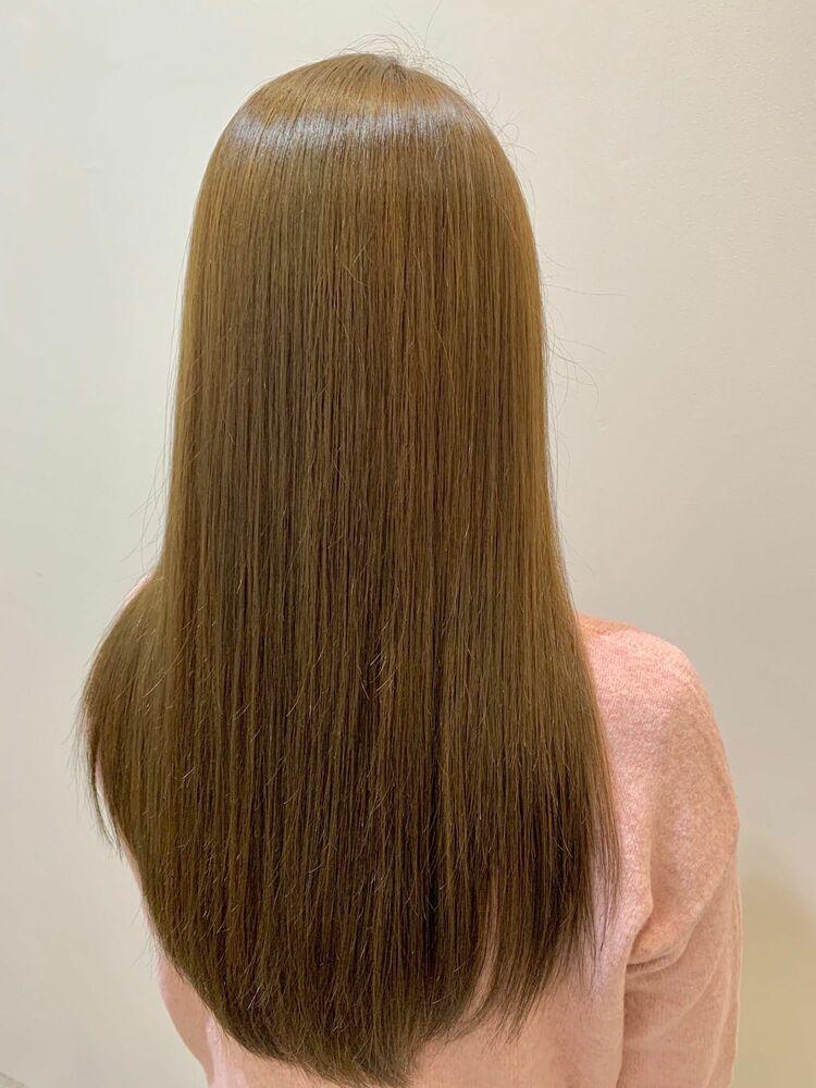 髪質改善トリートメント×ヌーディーベージュ