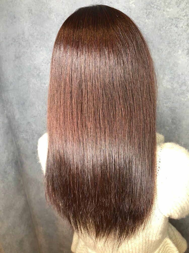 くせ、うねり、広がり、にお悩み方必見の髪質改善ストレート!今の毛髪化学で1番痛ませない施術法を実現!