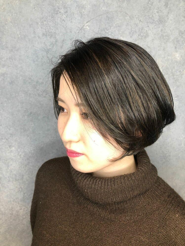MINX銀座五丁目店 トップデザイナー女性らしい丸み大人可愛いモテショートボブ♡