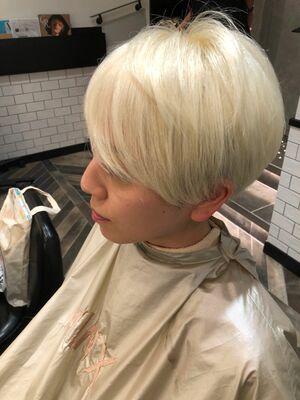 MINX銀座五丁目店 トップデザイナー ブリーチ必須!渾身のホワイトカラー!