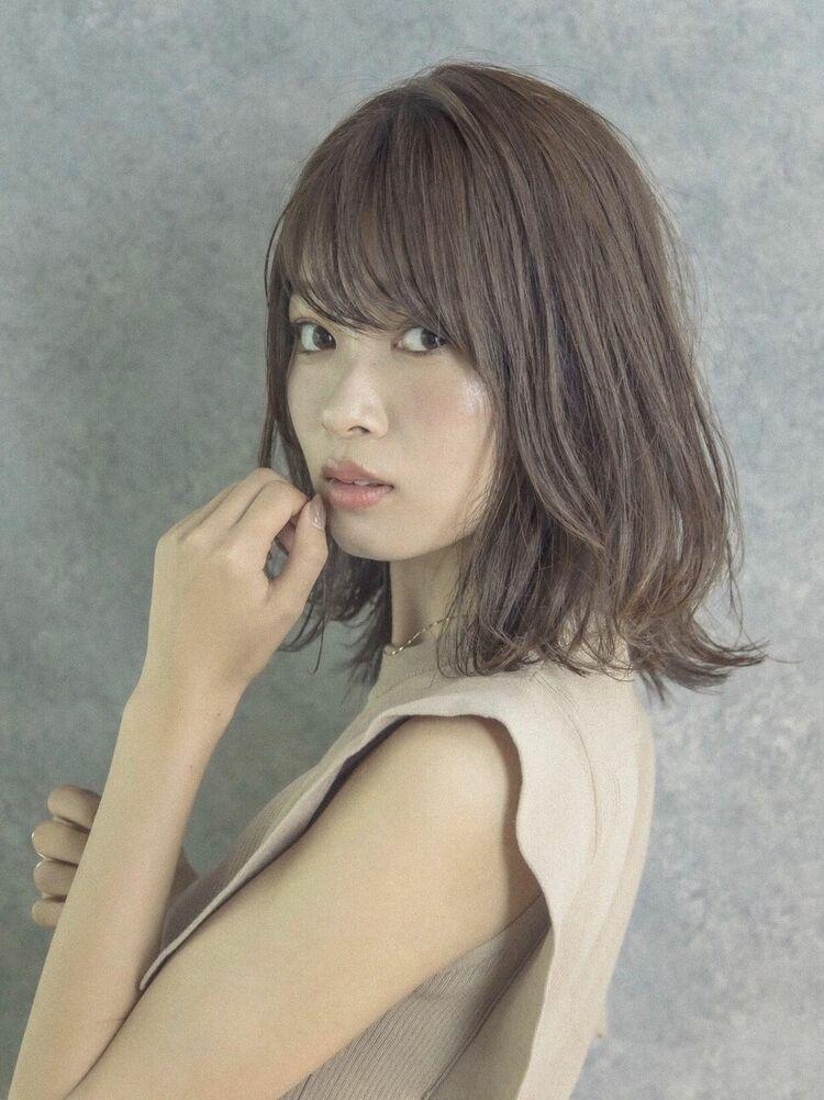 MINX銀座五丁目店 トップデザイナー 小顔効果抜群!!!大人可愛い外ハネくびれミディアム!