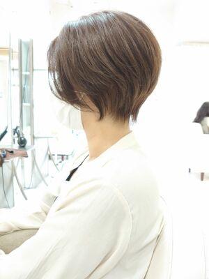 ハンサムショート 前髪長め
