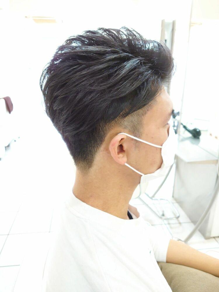 メンズオールバックヘア