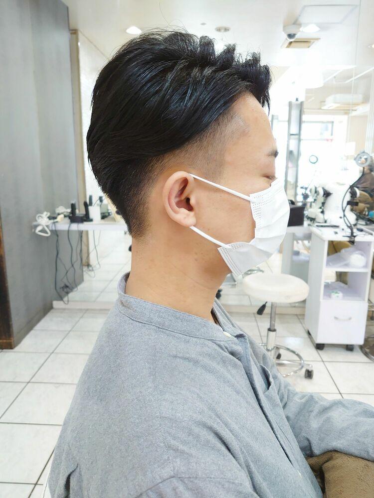 メンズ刈り上げビジネススタイル