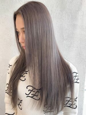 ハイブリーチ(2回ブリーチ) × グレージュ × 髪質改善トリートメント