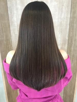 髪質改善トリートメント×ロングレイヤースタイル