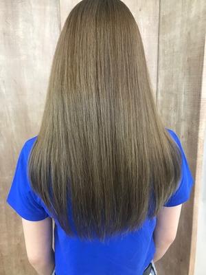 髪質改善トリートメント×ハイトーンカラー